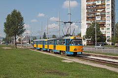 Sofia Tram Nr. 4075 + 4771 Tram-Depot Krasna Polyana (Bus und Bahn by SF) Tags: sofia tatra t4dm b4dm софия leipzig tram strassenbahn streetcar столичен електротранспорт bulgarien