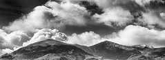 Above all summits it is calm (Ronny Darko) Tags: mountain cloud black white berg winter sightseeing travel reise irland ireland schwarz weiss panorama summit