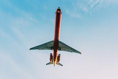 Under the route (Randy Sebastian) Tags: blue airplane route park bluetone airjet 35mm
