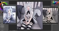 Anime Mimic Challenge :D (Teuila Porcelain (Taking/Needing Clients :P)) Tags: anime gothic porcelain panda neko kitten kitty albino white schoolgirl starveltstudios starvelt doll animemimic mimicing animegirl cute kawaii beforeandafter repaint slrepaint sl secondlife