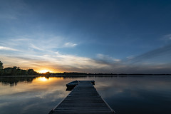 Tranquility (Kevin Tataryn) Tags: sunset water lake dock peaceful evening colour boat wide angle nikon d500 tokina 1116