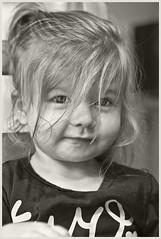 Grand Daughter #32 2018; 2nd Birthday (hamsiksa) Tags: children child girl littlegirl toddler baby twoyearold two birthday 2ndbirthday granddaughter blackwhite portrait candidportrait informalportrait family generations blackwhiteportrait people availablelight ambientlight