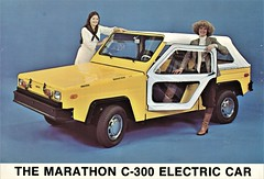 1980 Marathon C-300 Electric Car (aldenjewell) Tags: 1980 marathon c300 electric brochure card