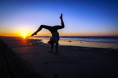 Sunrise Handstand (J. Samuel Studios) Tags: gymnast sunrise beach morning