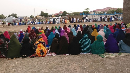 Eid-el-Fitr prayer in Borama