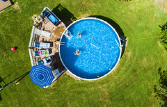 Pool Day (Matt Champlin) Tags: summer pool aerial drone swimming heat hot 2018 flying flight peace fun family portrait home house fathersday