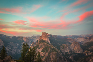 Yosemite National Park Half Dome Glacier Point High Res McGucken Fine Art Photography Sunset!  American West! Nikon D810 & 28-300mm Nikkor Zoom Lens! John Muir Scenic Vista View! Nevada Falls & Vernal Falls! Epic California Yosemite NP Landscape!