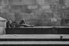 21/52 Blanco & Negro - Soledad (kiiiwiii) Tags: kiiiwiii canon 7dmarkii proyecto project 52 semanas weeks 52semanas 52weeks kiiiwiiiphotography bn blanco negro bcnbarcelona barrio gotico gotic quarter homeless vaganbundo mendigo paloma pigeon street calle soledad loneliness