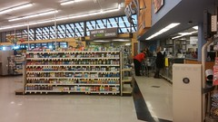 Following the floor stripe past the pharmacy, and on over to guest services (Retail Retell) Tags: kroger clarksdale ms closing closure liquidation sale january 2018 greenhouse 2012 bountiful décor package remodel former millennium store coahoma county retail