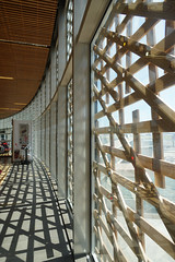 2018-05-FL-186478 (acme london) Tags: airport cavityfacade curtainwalling facade shading timberceiling timbershadingelements timberslats timbersoffit toulouse toulouseairport