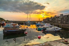 Carnlough Harbour, N.Ireland (PerfectCaptureNI) Tags: carnlough harbour boats sun sunrise clouds colour stone walls landscape photography northernireland countyantrim ulster coast coastal morning northernirelandphotography canon