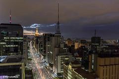 Sunset on the Paulista Avenue (MFMarcelo) Tags: sãopaulo brasil paulista avenue sky building light sunset cloud tower