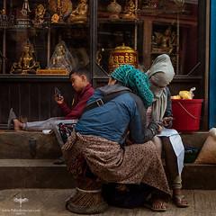 Asia / Nepal / Kathmandu / Boudhanath (Pablo A. Ferrari) Tags: pabloferrariart asia nepal kathmandu urban boudhanath street people women boy calle city capital