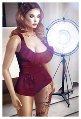 Vintage spotlight (khaosrepublic) Tags: ginger romper lelutka itgirls red redhair cleavage kaithleens vintage starlet sexy