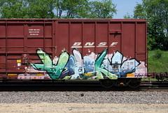 Aspekt (quiet-silence) Tags: graffiti graff freight fr8 train railroad railcar art aspekt voltron boxcar bnsf bnsf722621