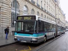 Renault Agora L €2 n°308 (ChristopherSNCF56) Tags: bus 57 ligne transport urbains autobus renault agora l star keolis rennes republique