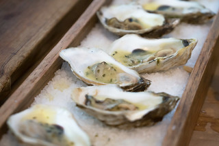Grilled Savage Blonde Oysters from PEI
