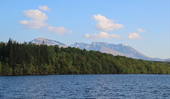 Ben Nevis (Andy.Gocher) Tags: andygocher canon100d loch lochy ben nevis mountain mountains trees uk scotland theladyofavenel thecaledoniacanal thegreatglen clouds water sailing