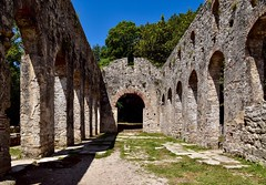 The Great Basilica (rustyruth1959) Tags: stoneslabs slabs pavingstones tree grass aisle columns stonework wall walls structure cult christian earlychristian bluesky sky alamy outdoor building floor arch arches architecture religiousbuidling bishop 6thcenturyad basilica greatbasilica ancient city ancientcity worldheritagesite unesco butrintnationalpark nationalpark butrint burtrintancientcity albania europe tamron16300mm nikond5600 nikon