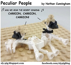 Peculiar People 7 (Nathan C. Cunningham) Tags: lego legocomic webcomic peculiarpeople humor lds mormon christian hymns vultures song carryon religion faith music comics