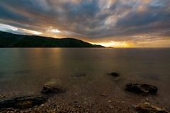 A Dark Awakening (miTsu-llaneous) Tags: nature seascape sunrise clouds sea ocean beach nikon d5200 tokina caribbean island movement water