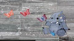 Shadee.K_6524 rue Albert Einstein Paris 13 (meuh1246) Tags: streetart paris shadeek ruealberteinstein paris13 animaux éléphant papillon