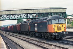 56074 at Hereford (TutorJohn72) Tags: class 56 diesel locomotive hereford station 1999 loadhaul livery