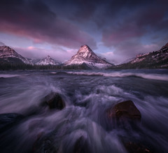 Two Medicine Gale (Blake Randall Photography) Tags: mountain range landscape peak snowcapped idyllic alpenglow fog sunrise scenic wind windy glacier national park glp montana blakerandallphotography lake two medicine rocky mountains photography dawn clearing storm usa popular tags waterfall sinopah nature outdoors d810