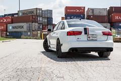Audi S6 on TSW Sebring wheels - 9 (tswalloywheels1) Tags: white audi c7 a6 s6 tsw sebring mesh matte black aftermarket alloy alloys wheel wheels rim rims