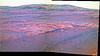 Hill with Hazy Sky, variant (sjrankin) Tags: 5june2018 edited nasa mars rocks sand panorama colorized rgb bands257 opportunity endeavourcrater sky haze