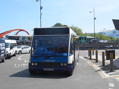 Stagecoach in South Wales 47891 (Welsh Bus 18) Tags: stagecoach southwales optare solo m920 47891 mx53fdd newport tmtravel norfolkgreen 621 east