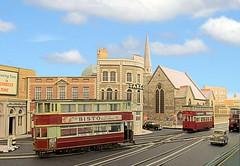 London Transport tramways (kingsway john) Tags: londontransportmodel tram feltham e1 ucc model layout 176 scale oo gauge road street kingsway models church bct black cat tavern wwmd sjc st judes tower plastic kit