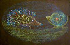 IMGP6439es (ArneKaiser) Tags: 1stgrade mrkaisersclass pineforestschool waldorf chalk chalkboard chalkdrawings