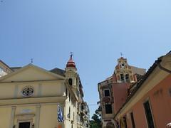 Two Churches (vw4y) Tags: skyline churchbells greekorthodox corfu oldtown greece