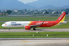 IMG_2964 VN-A646 Vietjet Air Airbus A321-271N at Hanoi Noi Bai International Airport on 17 May 20188 (Zone 49 Photography) Tags: aircraft airliner airplane aeroplane may 2018 vvnb han hanoi noi bai noibai international airport vj vjc vietjet air vietjetair airbus a321 airbusa321 200 271n neo vna646 1st321neoinsoutheastasia
