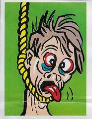 Spook Theatre Sticker ( Leaf 1961 ) (Donald Deveau) Tags: spookstories spooktheatre leaf tradingcards sticker horror monster