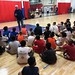 Steve Kelley brining an motivational message to the kids of NE Hoops Academy.