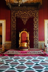 Palazzo Reale - Throne Hall (zawtowers) Tags: naples napoli campania italy italia may 2018 summer holiday vacation break warm dry sunny palazzo reale royal palace baroque architecture built 17th century used bourbon kings residence throne hall chair red dates back 1850