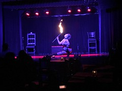 Ep 143: The fire breathing tit showing snake dancing with chick I had to follow at El Cid. (Live From The 405 Podcast) Tags: elcid losangeles standupcomedy burlesqueshow