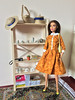 Mustard Dress (jenniffervalverde) Tags: barbie madetomove bluetop poppyparker momoko diorama scale16
