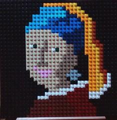 Girl with a Pearl Earring- Johannes Vermeer (andresignatius) Tags: girlwithapearlearringjohannesvermeer lego art painting