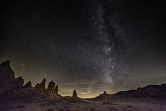Sky at night (Ross Forsyth - tigerfastimagery) Tags: movielocations bornoffrustration battlestargalactica startrek planetoftheapes landscape 2016 longexposure nightsky la stars way milky mojave desert tronapinnacles pinnacles trona milkyway roadtrip california usa