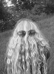 A, incognito (jonathan charles photo) Tags: bw portrait shy child 11 sunglasses hair art photo jonathan charles