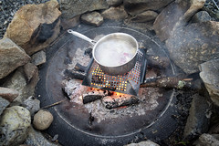 Outside cooked Bangers & Mash! Potatoes & Gravy made on the fire and Sausage on the grill :) - Tenants Harbor Maine (Jonmikel & Kat-YSNP) Tags: maine tenantsharbor me stgeorge oldwoodsfarm summer backyard patio grill grilling cooking