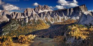 View from Cinque Torri @ Dolomites, Italy
