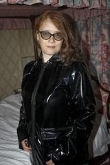 IMG_2027 (traveller-28) Tags: pvc raincoat rainboots wife vinyl fetish glasses asos
