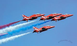 RAF Red Arrows Display Team at Torbay Air Show 2018