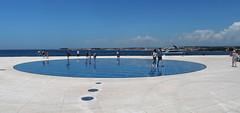 Sun Salutation, Zadar, Croatia (ladigue_99) Tags: istria croatia adriaticsea dalmatia zara zadar sunsalutation greetingtothesun nikolabasicarchitect solarpanel