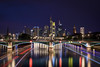 Frankfurt am Main, Germany (oliver.nispel) Tags: 069 frankfurtammain outdoor style architectural architecture building city cityscape clouds ffm frankfurt germany hesse longtimeexposure main mainhattan night nightshot place river sky skyline urban urbex hessen de water bridge