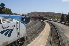 San Luis Obispo, California (imartin92) Tags: sanluisobispo california unionpacific coastline railway railroad amtrak coast starlight passenger train ge generalelectric p42dc genesis locomotive